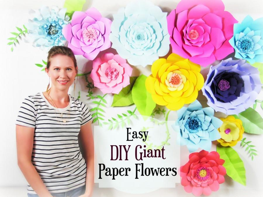 Paper Flower Tutorial, Giant Paper Flower Backdrop, Paper Flower