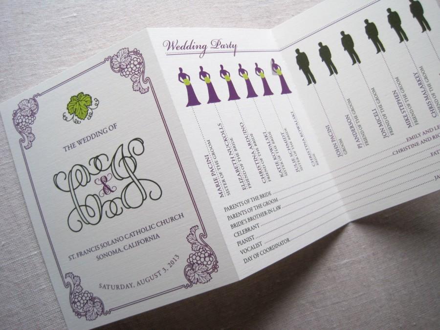 Decor - Vineyard Tri-Fold Wedding Program #2704782 - Weddbook
