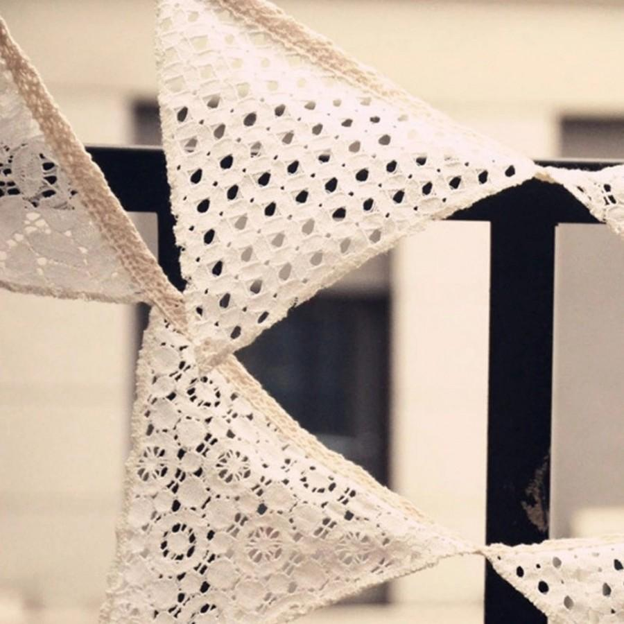 Shabby Chic Vintage Nursery 2 1m Lace Bunting Wedding Bunting Banner Shabby Chic Vintage