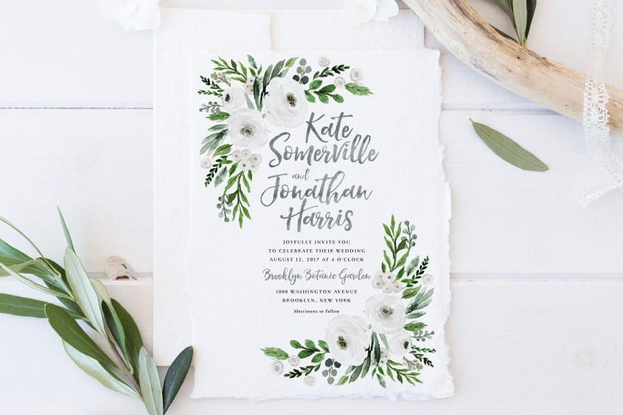 Wedding Invitation Set Printable Spring Summer Wedding