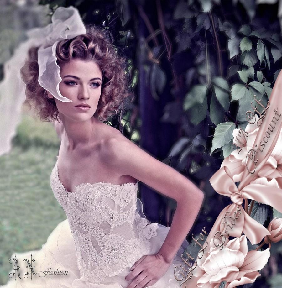 a line long sleeves corset back floor length ivory lace satin wedding dress pwedsku wedding corset Mermaid Lace Corset Back Sweep Train Wedding Dress