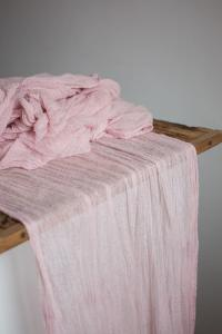 Blush Gauze Runner For Weddings Events, Centerpieces ...