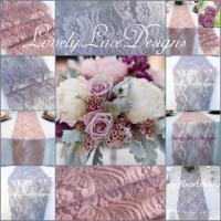WEDDING Decor/LaceTable Runnes/Silver/Grey&Mauve/Dusty