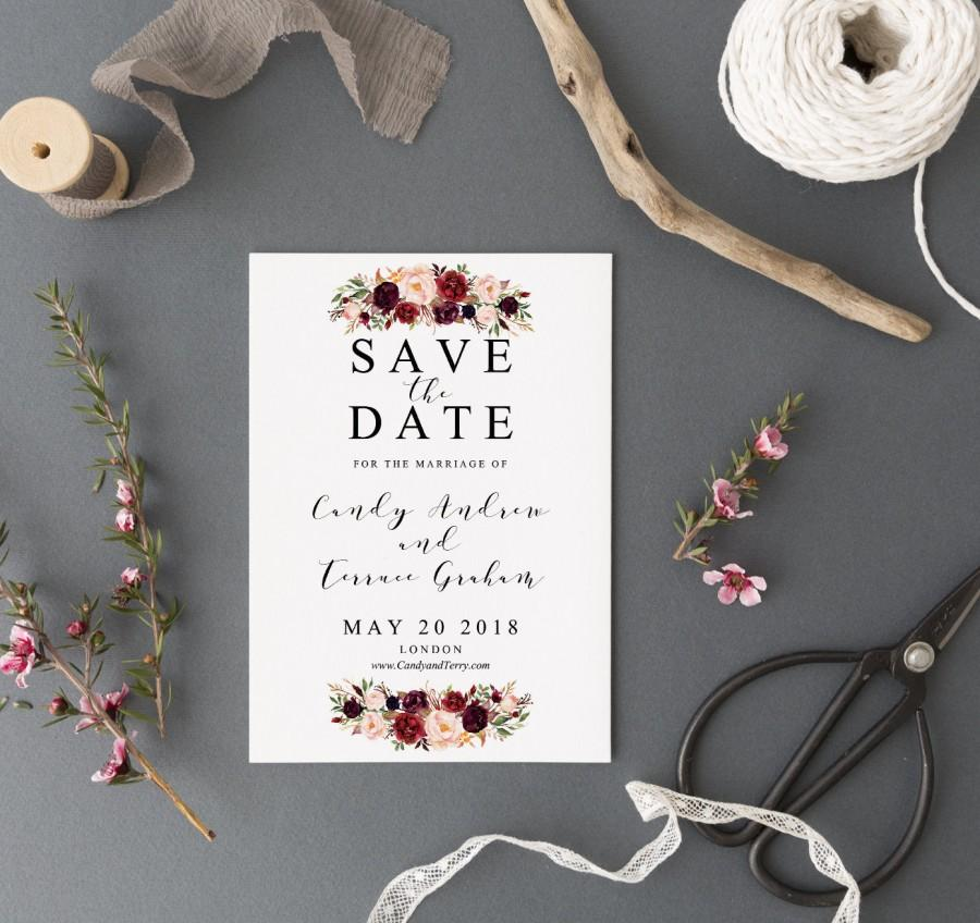 Save The Date Template Printable, Save The Date Postcard Template