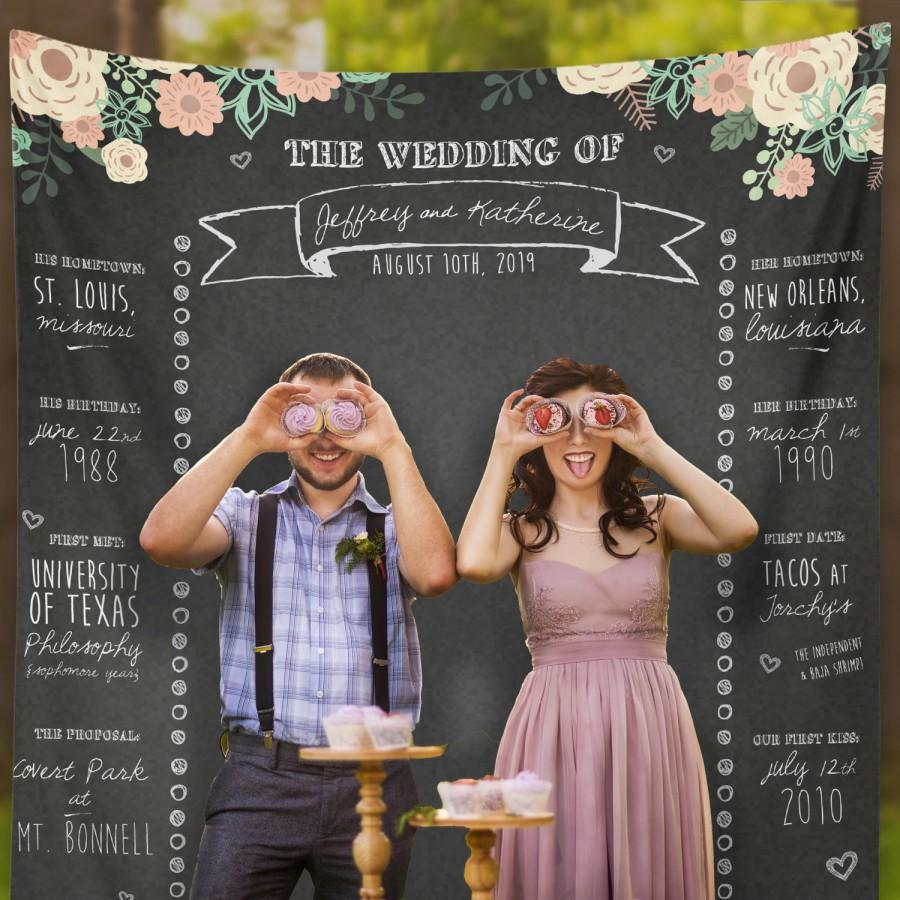 Decor Photobooth Personalized Wedding Chalkboard Rustic Chalkboard Custom Wedding
