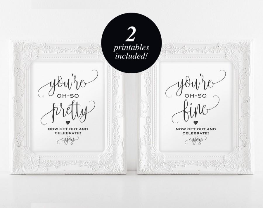 Wedding Bathroom Signs, Wedding Sign, Wedding Printable, Bathroom