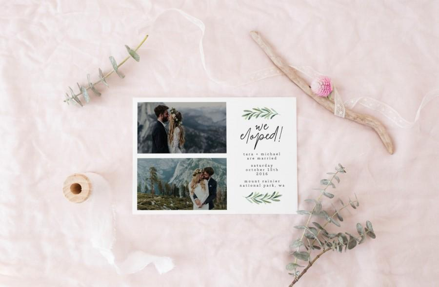 Printable Elopement Announcement Card · Wild Elopement · Wedding