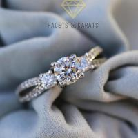 Past Present Future Three Stone Engagement Ring, Bridal ...