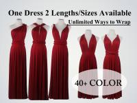 Burgundy Wine Red Bridesmaid Dress, Long Infinity Dress ...