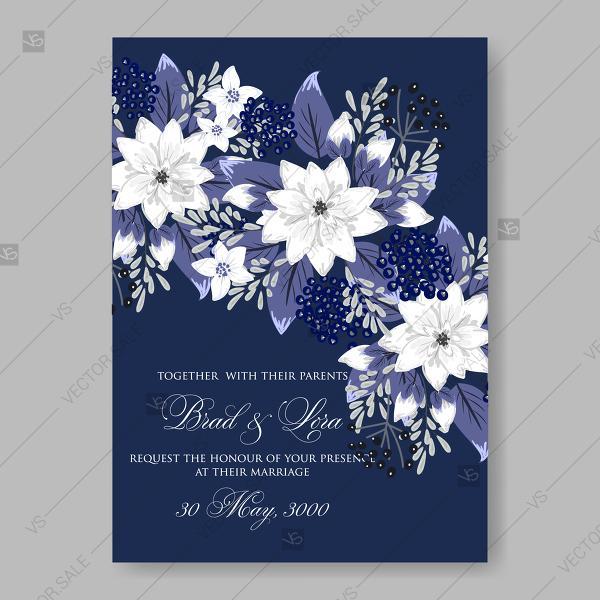 White Flowers Of Chrysanthemum Anemones On A Dark Blue Background