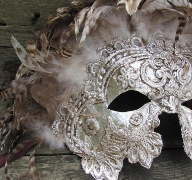 Ludo Quotes Wallpaper Venetian Masquerade Mask In Ornate Silver With Brown