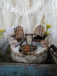 Miniature Chair Lake House Shot Gun Campfire Camping ...
