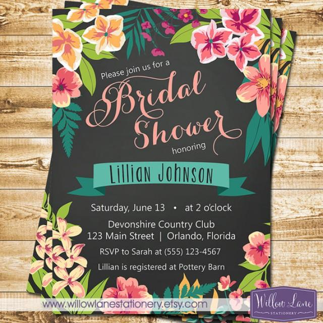 hawaii themed invitations