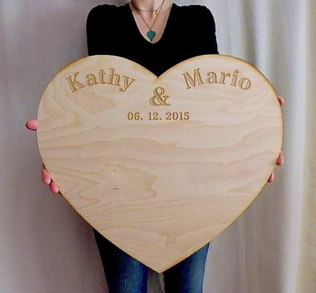 Wedding Guestbook Alternative Personalized Extra Large Wood Custom