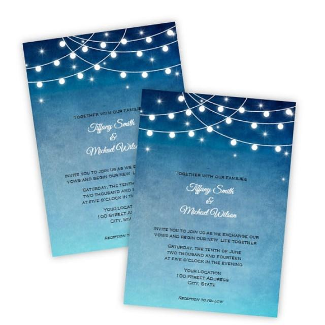 Wedding Invitation - Lights At Night - DIY Printable Template