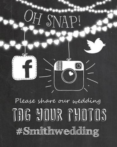 Social Media Wedding Sign - Instagram Wedding Sign ...
