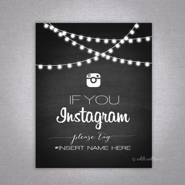 Wedding Instagram Sign (Chalkboard) (Printable File Only); Printable