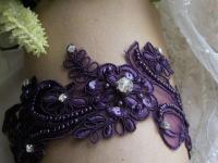 Sale Plum Garter,Plum Wedding,Aubergine Garter,Lace Garter ...