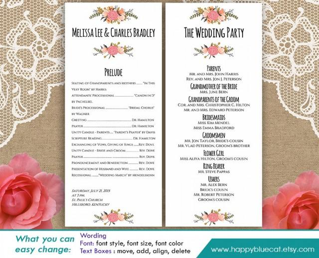 wedding programs word template