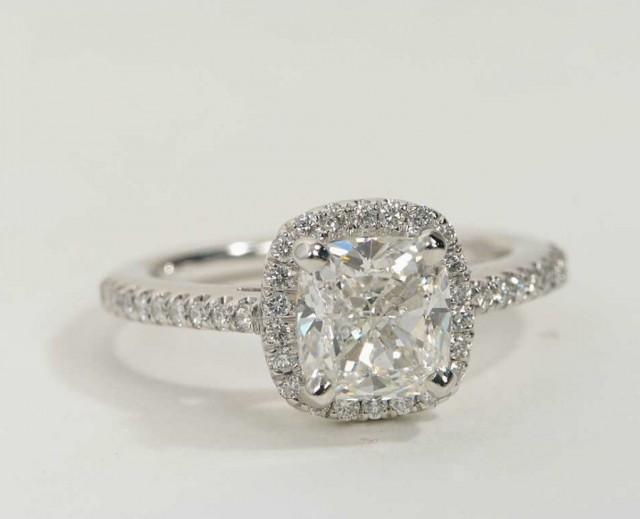 Sale Cushion Cut Cz Halo Engagement Ring Sterling