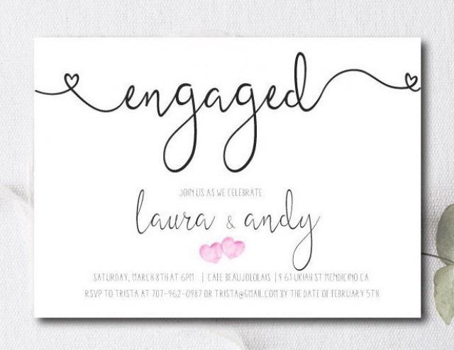 Engagement Party Invite / Engagement Party Invitation / Couples