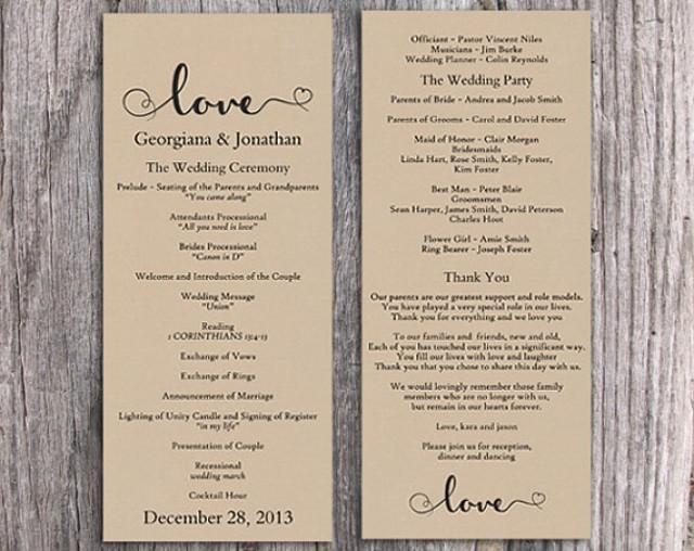 Wedding program templates free printable colbro burlap wedding program template diy editable word file download maxwellsz