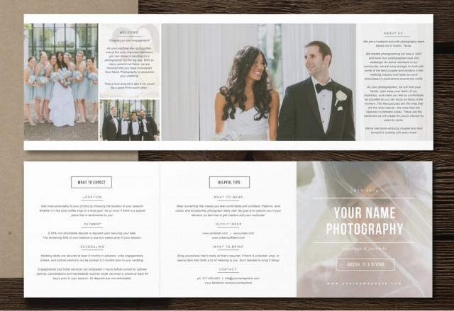 Photography Pricing Template 5x5 Accordion Trifold