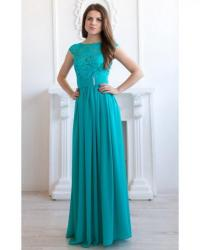 Turquoise Bridesmaid Dress Long Turquoise Lace Dress ...
