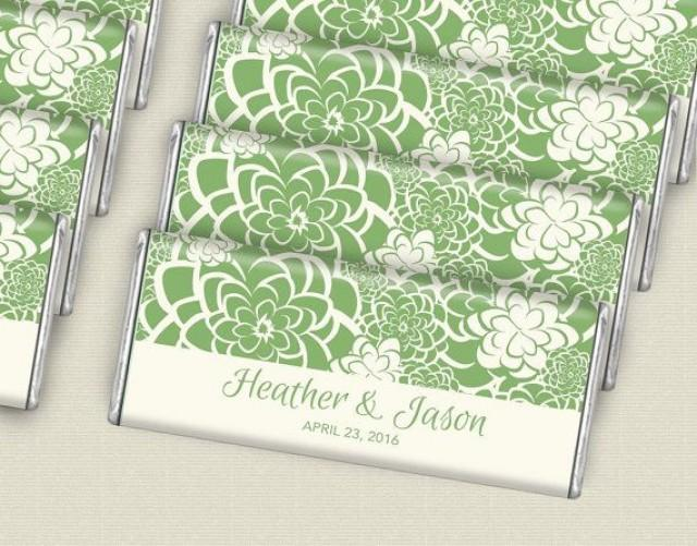 Green Floral Succulent Wedding Favors For Eco Friendly
