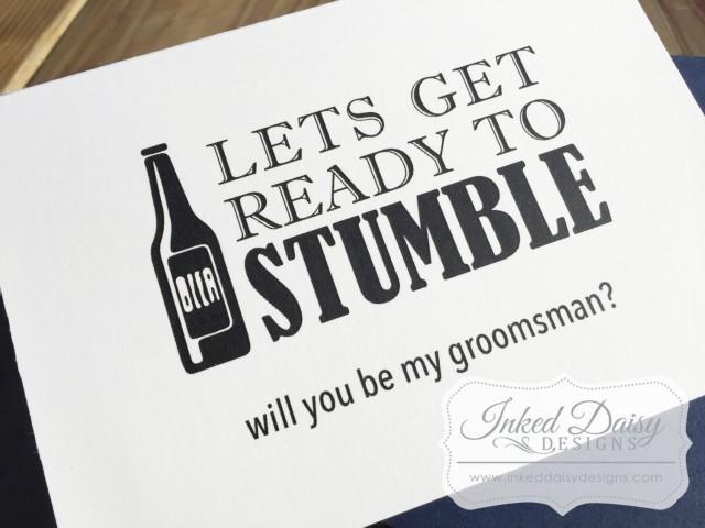 Beer Groomsman Card Funny Will You Be My Groomsman Best