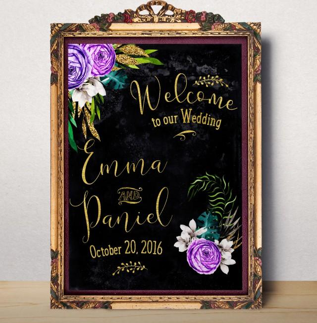 Wedding Welcome Sign Welcome To Our Wedding Printable Custom Wedding