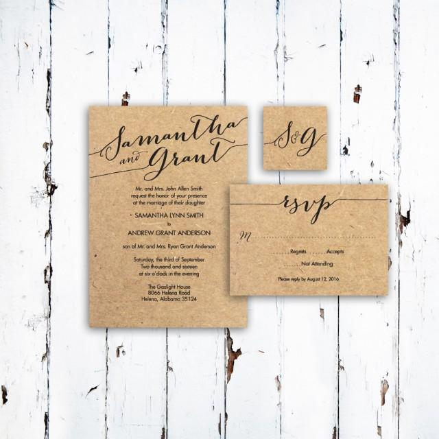 Custom Personalized Wedding Invitation Templates ~ RSVP Card And