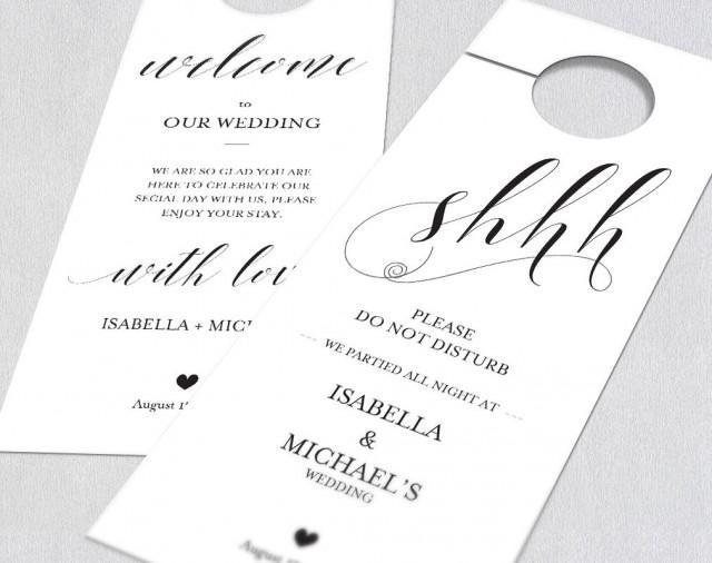 Wedding Door Hanger Template - Templates