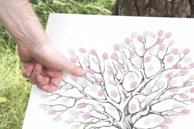 Guestbook Ideas, Fingerprint Printable, Wedding Gift Ideas, Pink