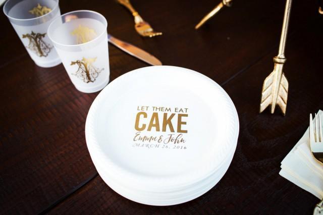 monogrammed dessert plates