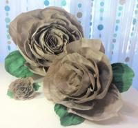 Crepe Paper Roses, 4 Sizes To Choose From, Crepe Paper ...