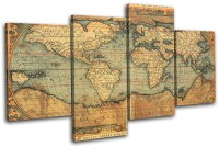 Old World Atlas Maps Flags MULTI CANVAS WALL ART Picture ...