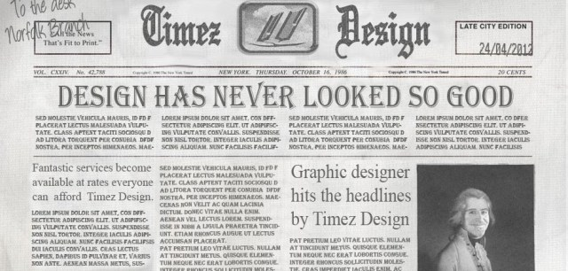 The Timez Design Newspaper
