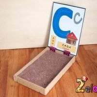 Cómo hacer una bandeja de trazado Montessori