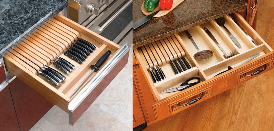 Kitchen Drawer Knife Organizer Designing For Knife Storage, Part 2: Beyond Knife Blocks