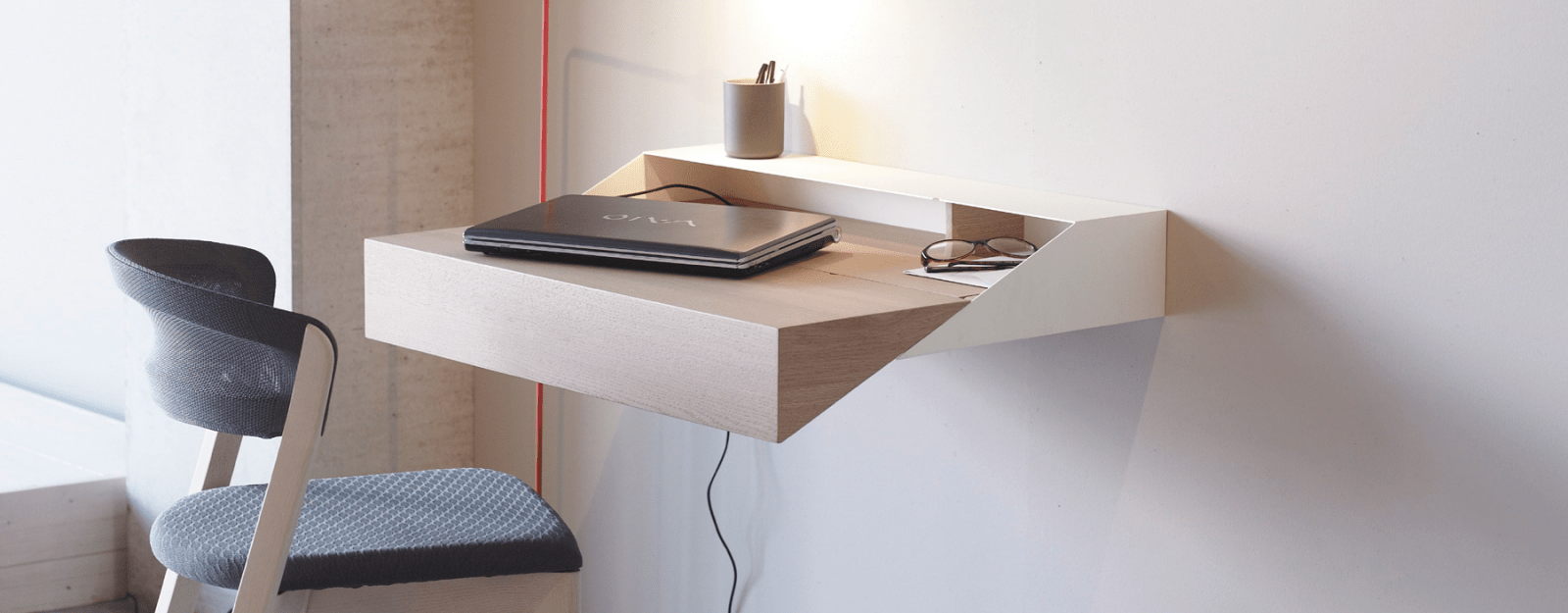 Wall Mounted Desks For Small Spaces Get To Work At These 9 Wall Mounted Desks Core77