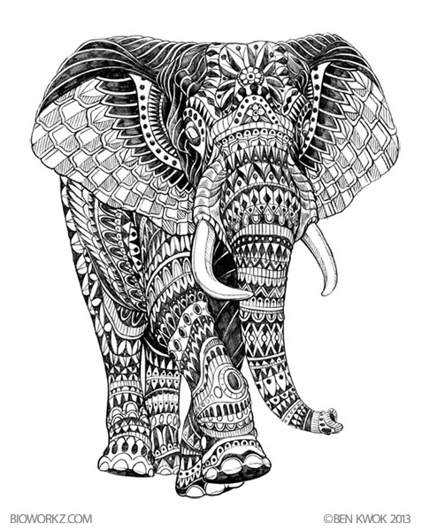 Cute Mandala Wallpaper Ornate Animals By Ben Kwok At Coroflot Com