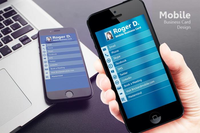 Mobile Business Card Design by Abhishek Katyal at Coroflot
