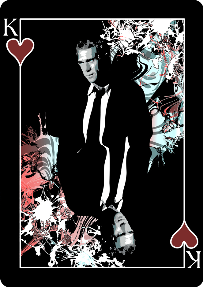 Steve McQueen Playing Card Design by Melanie Armstrong at Coroflot