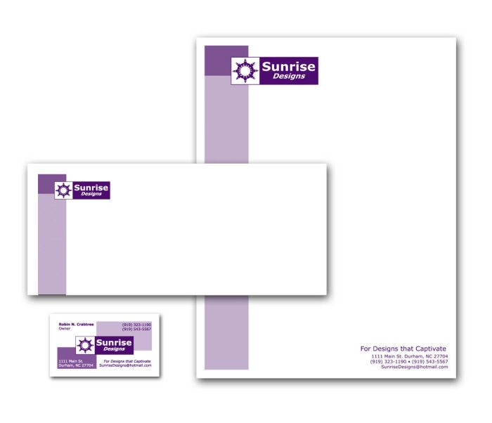 Letterhead Business Cards  Envelopes by Robin Crabtree at Coroflot