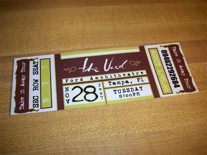 Ticket design by Daniel Fogel at Coroflot