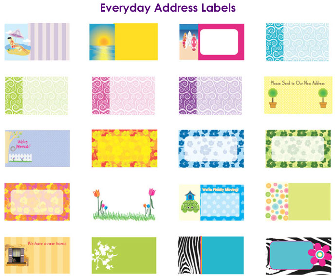 Return Address Label Designs 2 by Barbara Boutin at Coroflot