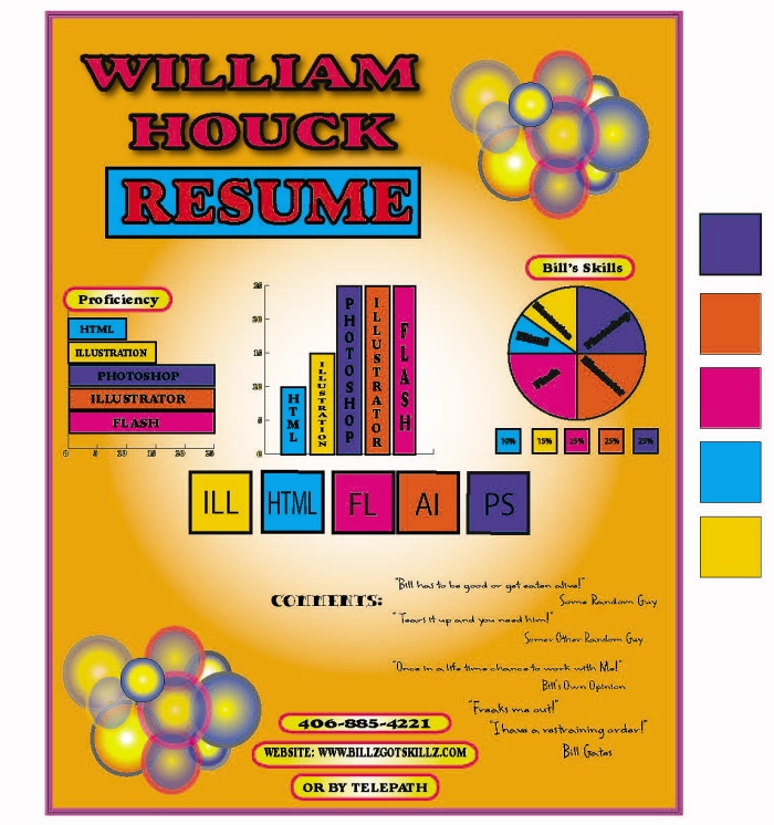 infographic resume examples by Bill Houck at Coroflot - infographic resume examples