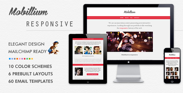 MOBILLIUM - Responsive Mailchimp Ready Email Newsletter by Bedros