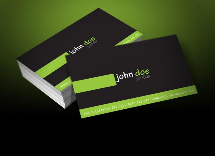 Free Personal Business Card Template by Borce Markoski at Coroflot
